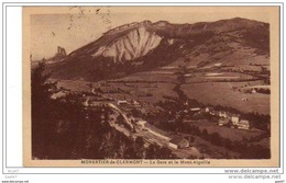 """Cpa  (  Dep  63  ) à    MONESTIER De CLERMONT       """"""""  La  Gare Et Le Mont-Aiguille  """"""""1931 - France"""
