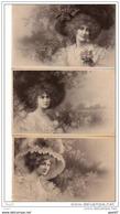 3 Cpa    (     Illustrateurs  )    Charme De Femmes - Women
