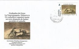 "SPAIN. COVER GOYA ENGRAVING. TAUROMAQUIA 9. ""TU SELLO"" - 1931-Hoy: 2ª República - ... Juan Carlos I"