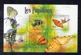 Repubblica Centrafricana - 2011 - Foglietto Tematica  Animali - Farfalle - 4 Valori - Nuovo ** - (FDC19052) - Repubblica Centroafricana