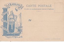 Carte Publicitaire – La Kabiline – (Au Verso Carte à Systéme) - Advertising