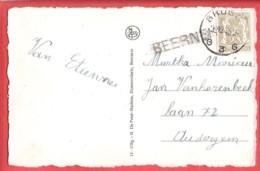 CPA  BEERNEM  Gemeentehuis  Obl BRUGGE 3  -  26 XII 1943 Avec Griffe De  BEERNEM - Marcofilia