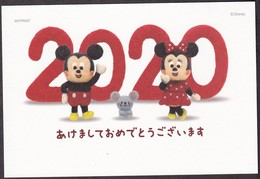 Japan New Year Postcard 2020 Disney Mickey Mouse (jny2466) - Interi Postali
