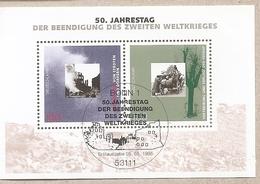 Germania - Foglietto FDC Con Annullo Speciale: 50° Anniversario Della Fine Della 2° Guerra Mondiale - 1995 * G - Seconda Guerra Mondiale
