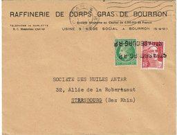 LCTN59/ALS 2 - LETTRE PARIS / STRASBOURG 1/3/1947 OBL. LINEAIRE ARRIVEE - France