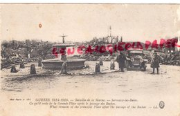 51 - SERMAIZE LES BAINS- LA GRANDE PLACE APRES LE PASSAGE DES BOCHES- GUERRE  1914  MARNE - Sermaize-les-Bains