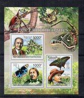 Repubblica Centrafricana - 2011 - Foglietto Tematica  Animali - Farfalle - 3 Valori - Nuovo ** - (FDC19055) - Repubblica Centroafricana