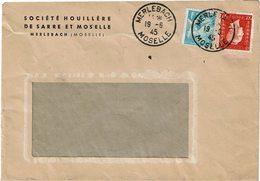 LCTN59/ALS 2 - LETTRE  MERLEBACH 19/6/1945 - France