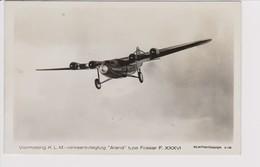 Vintage Rppc KLM K.L.M. Royal Dutch AIrlines Fokker F-36 Aircraft - 1919-1938: Between Wars