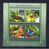 Togo - 2011 - Foglietto Tematica  Animali - Farfalle - 4 Valori - Nuovo ** - (FDC19060) - Togo (1960-...)