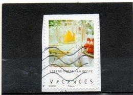 FRANCE   Lettre Verte   2019  Carnet Vacances 8ème Photo   Adhésif   Sur Fragment Oblitéré - Adhesive Stamps