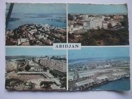 N90 Carte Postale Cote D'Ivoire - Abidjan - Vue Aerienne Du Plateau Et De La Lagune - 1961 - Côte-d'Ivoire