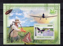 Togo - 2011 - Foglietto Tematica  Animali - Farfalle - Nuovo ** - (FDC19062) - Togo (1960-...)