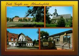 D1213 - TOP Blankenfelde Gaststäte Gasthaus Zur Eiche Cafe Tarja Kirche - Bild Und Heimat Reichenbach - Qualitätskarte - Blankenfelde