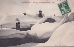 PONTARLIER         LA NEIGE SUR LES TOITS. JANVIER 1907 - Pontarlier