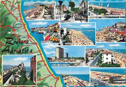 Riviera Adriatica - Carte Géographique - Italie