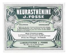 Etiquette Pharmacie - Neurasthénine J.Fosse - Autres