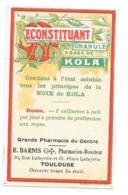 Etiquette Pharmacie - Reconstituant Granulé à Base De Kola - Grande Pharmacie Du Centre - E.Darnis - Toulouse - Etiquettes