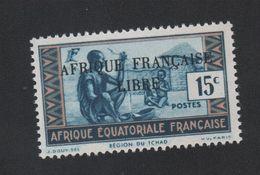 Faux Afrique équatorale N° 97b Surcharge Noire Gomme Sans Charnière - A.E.F. (1936-1958)
