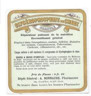 Etiquette Pharmacie - Glycérophosphate De Chaux Granulé - Pharmacien A. Bonnaure - Alais - Autres