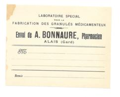 Etiquette Pharmacie - Pharmacie Bonnaure - Alais - Autres