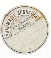 Etiquette Ronde Pharmacie - Pharmacie Bonnaure - Alais - Autres