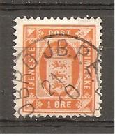 Dinamarca-Denmark Yvert Nº Servicio 4 (A) (usado) (o) - Service