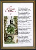 D1245 - TOP Ribbeck Der Birnbaum Liedkarte Theodor Fontane - Bild Und Heimat Reichenbach - Qualitätskarte - Germania
