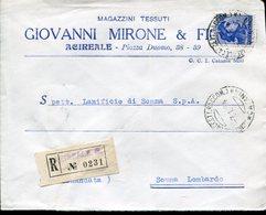 Italia (1964) - Raccomandata Da Acireale (CT) - 1961-70: Storia Postale