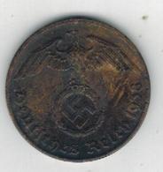 Germany,  2 Reichpfennig, 1938 . Used, See Scan. - [ 4] 1933-1945 : Third Reich