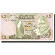 Billet, Zambie, 2 Kwacha, KM:24a, NEUF - Zambie