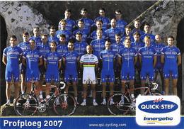 CARTE CYCLISME GROUPE TEAM QUICK STEP 2007 - Radsport