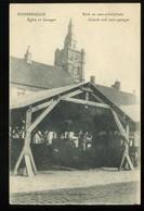 Rousbrugge Eglise Et Garages Kerk En Auto Schuilplaats 1917 - Poperinge