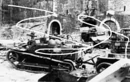 Négatifs (grande Taille). Boulogne. Véhicules Français Détruits En Mai 1940 Lors Des Combats Pour La Citadelle - 1939-45