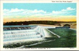 New York Catskill Mountains Ashokan Reservoir Spillway And Bridge Curteich - Catskills