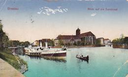 AK Breslau - Blick Auf Die Sandinsel - Schlesien -  1925 (46007) - Schlesien