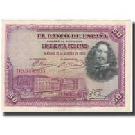 Billet, Espagne, 50 Pesetas, 1928, 1928-08-15, KM:75b, SUP - [ 2] 1931-1936 : Repubblica
