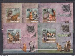 Guinea-Bissau - MNH - Nature - Fauna - Pets - Cats - Gatos Domésticos