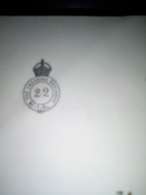 22 THE CHESHIRE REGIMENT ON LETTER SEE SCAN - 1902-1951 (Kings)
