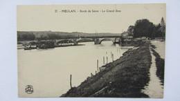MEULAN , PENICHE   PONT  CANAL .3 - Mantes La Jolie