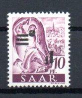 Sarre 1947 Timbre Neuf ** Sans Charnière Surcharge Rensersée - 1947-56 Ocupación Aliada