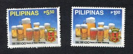 "(1903) Pilipinas, Philippinen, 2 Werte **, Bier Bierglas, Brauerei, ""100 Years Of Beer Making"" Bierbrauen, Alkohol, Pils - Biere"
