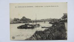 CONFLANS-STE-HONORINE  , PENICHE   PONT  CANAL .1 - Creteil