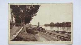CONFLANS-STE-HONORINE  , PENICHE   PONT  CANAL .2 - Creteil