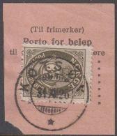 1910. Posthorn. 35 øre. LUXUS KOTSØY 31 XII 26. (Michel 85) - JF318082 - Gebraucht