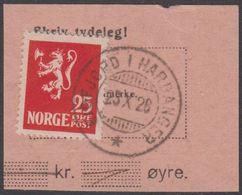 1923. Lion.__ 25 øre Red. LUXUS EIDFJORD I HARDANGER 25 X 26. (Michel 107) - JF318108 - Gebraucht