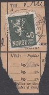 1927. New Liontype. 40 øre Slate. LUXUS BERGEN - KRONSTAD 21. IV.33. (Michel 130) - JF318175 - Gebraucht