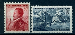 ED. SH 862/863 ** , SELLOS PROCEDENTES DE LAS HOJAS CONMEMORATIVAS DE LA BATALLA DE LEPANTO , AÑO 1938 - 1931-Today: 2nd Rep - ... Juan Carlos I