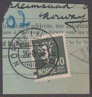 1927. New Liontype. 40 øre Slate. LUXUS NORHEIMSUND 26-8-33. (Michel 130) - JF318188 - Gebraucht
