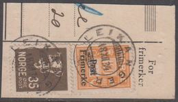 1929. Postage Due Overprinted. 100 øre Orange. LEIKANGER 18. XII. 34. (Michel 144) - JF318209 - Norwegen
